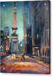 Indy Circle Monument Acrylic Print