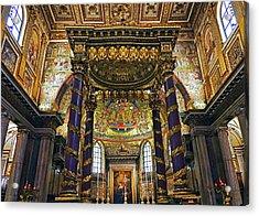 Interior View Of The Basilica Di Santa Maria Maggiore In Rome Italy Acrylic Print