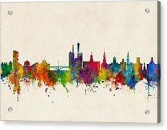 Iowa City Iowa Skyline Acrylic Print