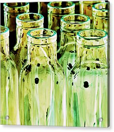 Iridescent Bottle Parade Acrylic Print by Heiko Koehrer-Wagner