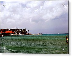 Acrylic Print featuring the photograph Island Harbor by Gary Wonning