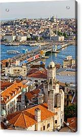 Istanbul Cityscape Acrylic Print by Artur Bogacki