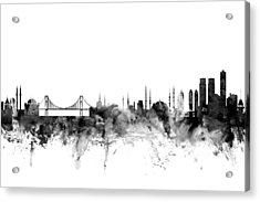 Istanbul Turkey Skyline Acrylic Print by Michael Tompsett
