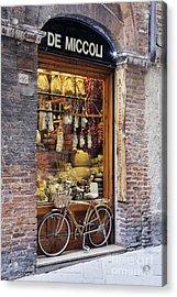 Italian Delicatessen Or Macelleria Acrylic Print by Jeremy Woodhouse