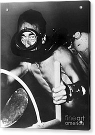 Jacques Cousteau (1910-1997) Acrylic Print by Granger
