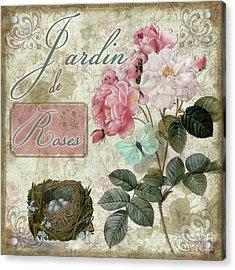 Jardin De Roses Acrylic Print