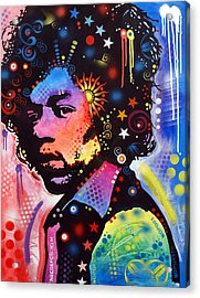 Acrylic Print featuring the painting Jimi Hendrix by Dean Russo