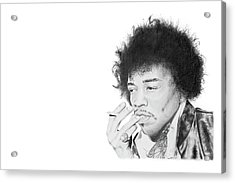 Jimi Hendrix Acrylic Print by Don Medina