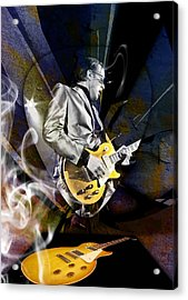 Joe Bonamassa Blue Guitarist Art Acrylic Print by Marvin Blaine