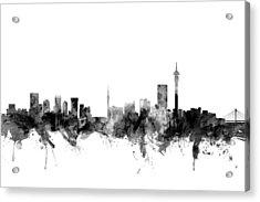 Johannesburg South Africa Skyline Acrylic Print by Michael Tompsett