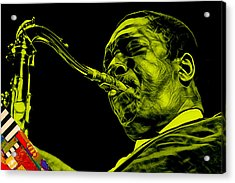 John Coltrane Collection Acrylic Print by Marvin Blaine
