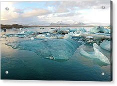 Acrylic Print featuring the photograph Jokulsarlon The Glacier Lagoon, Iceland 2 by Dubi Roman