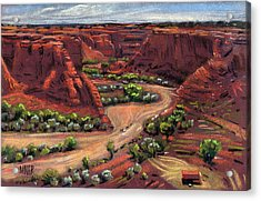 Junction Canyon De Chelly Acrylic Print by Donald Maier