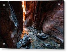 Kanarra Slot Canyon Acrylic Print