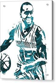 Kemba Walker Charlotte Hornets Pixel Art 3 Acrylic Print