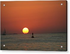 Key West Sunset Acrylic Print by Randy Morehouse