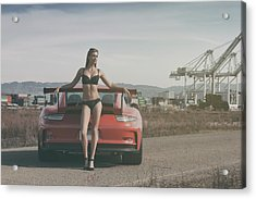 #kim And #porsche #gt3rs Acrylic Print