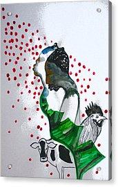 Kintu And Nambi Poster Acrylic Print by Gloria Ssali