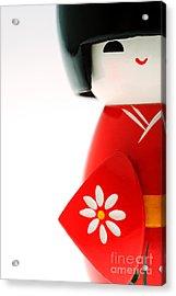 Kokeshi Doll Acrylic Print by Larry Dale Gordon - Printscapes