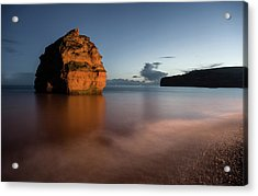 Ladram Bay In Devon Acrylic Print