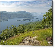 Lake George From The Tongue Mountain Range New York  Acrylic Print by Brendan Reals