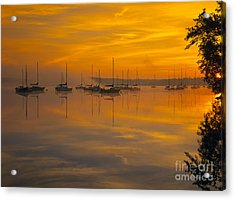 Lake Massabesic - Auburn New Hampshire Usa Acrylic Print by Erin Paul Donovan