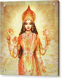 Lakshmi The Goddess Of Fortune And Abundance Acrylic Print