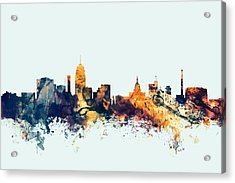 Lansing Michigan Skyline Acrylic Print
