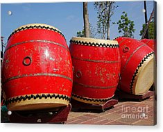 Large Chinese Drums Acrylic Print by Yali Shi