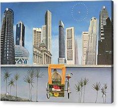 Last Dim Sum In Singapore Acrylic Print by Tibone Buffalomeat