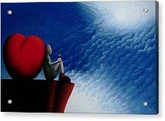Lean On Love Acrylic Print