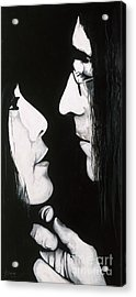 Lennon And Yoko Acrylic Print by Ashley Price