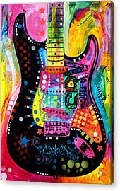 Acrylic Print featuring the painting Lenny Strat by Dean Russo