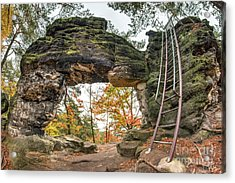 Acrylic Print featuring the photograph Little Pravcice Gate - Famous Natural Sandstone Arch by Michal Boubin