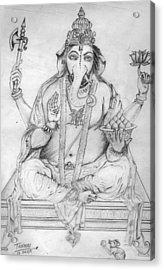 Lord Ganesha Acrylic Print by Tanmay Singh