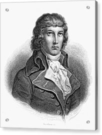 Louis Saint-just (1767-1794) Acrylic Print by Granger