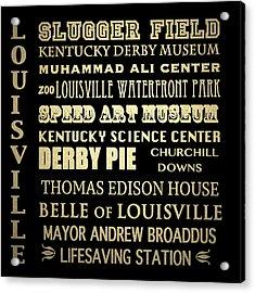 Louisville Famous Landmarks Acrylic Print
