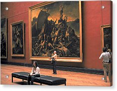 Louvre Museum In Paris Acrylic Print by Carl Purcell