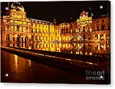 Acrylic Print featuring the photograph Louvre Pyramid by Danica Radman