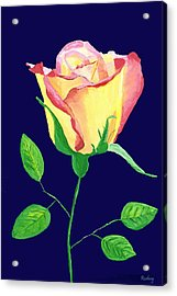 Acrylic Print featuring the painting Love In Bloom by Rodney Campbell