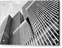 Low Angle View Of A Huge Skyscraper Acrylic Print
