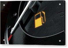 Low Petrol Dashboard Light Acrylic Print