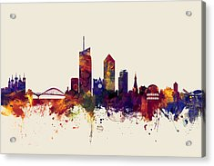 Lyon France Skyline Acrylic Print