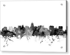 Madison Wisconsin Skyline Acrylic Print by Michael Tompsett