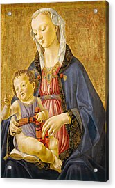Madonna And Child Acrylic Print by Domenico Ghirlandaio