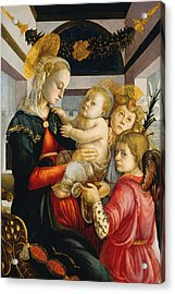 Madonna And Child With Angels Acrylic Print by Sandro Botticelli