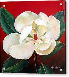 Magnolia Acrylic Print by Muriel Dolemieux