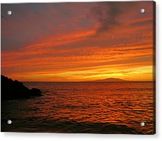 Makena Sunset Acrylic Print by Stephen  Vecchiotti