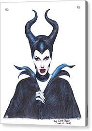 Maleficent  Once Upon A Dream Acrylic Print by Kent Chua
