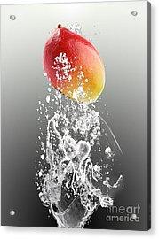 Mango Splash Acrylic Print